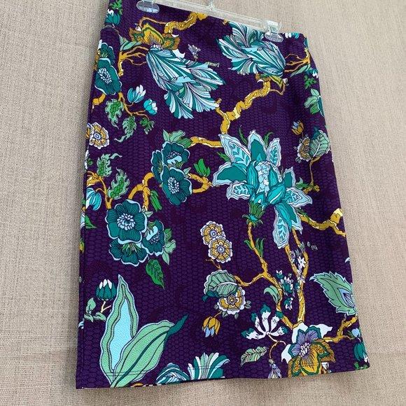 LuLaRoe Floral Midi Skirt